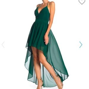Green High/Low Lace Dress